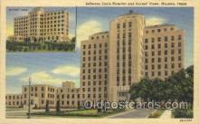 med100197 - Jefferson Davis Hospital and Nurses' Home, Houstin, TX Medical Hospital, Sanitarium Postcard Postcards
