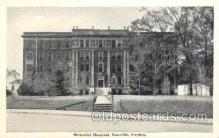 med100233 - Memorial Hospital, Danville, VA Medical Hospital, Sanitarium Postcard Postcards