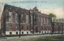 med100238 - Evangelical Deaconess Hospital, St. Louis, MO Medical Hospital, Sanitarium Postcard Postcards