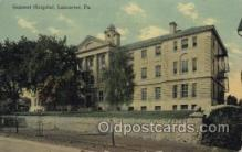 med100338 - General Hospital, Lancaster, Pa., USA Hospital, Hospitals Postcard Postcards