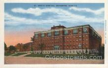 med100348 - St. Mary's Hospital, Rochester, Minn, USA Hospital, Hospitals Postcard Postcards