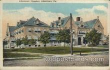 med100353 - Allentown Hospital, Allentown, Pa, USA Hospital, Hospitals Postcard Postcards