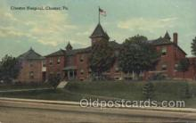 med100356 - Chester Hospital,Chester, Pa., USA Hospital, Hospitals Postcard Postcards