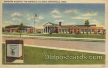 med100364 - Shriner's Hospital, Springfield, Mass, USA Hospital, Hospitals Postcard Postcards