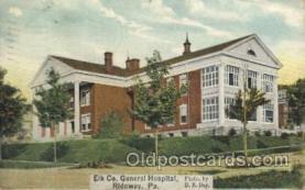 med100372 - Ridgway, Pa, USA Hospital, Hospitals Postcard Postcards