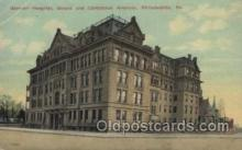 med100373 - German Hospital, Girard and Corinthian Avenues, Philadelphia, USA Hospital, Hospitals Postcard Postcards