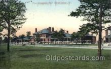 med100482 - Post Hospital, Fort Ethan Allen, VT, USA Postcard Post Cards Old Vintage Antique