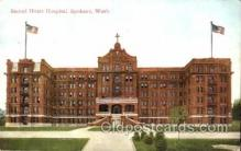 med100484 - Sacred Heart Hospital Spokane, WA, USA Postcard Post Cards Old Vintage Antique