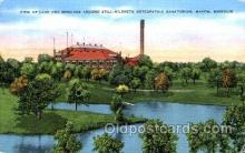 med100491 - Still Hildreth Osteopathic Sanatorium Macon, MO, USA Postcard Post Cards Old Vintage Antique