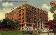 med100496 - Allegheny General Hospital Pittsburgh, PA, USA Postcard Post Cards Old Vintage Antique