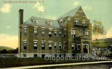 med100499 - Fox Memorial Hospital Oneonta, NY, USA Postcard Post Cards Old Vintage Antique