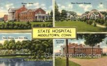 med100510 - State Hospital Middletown, CT, USA Postcard Post Cards Old Vintage Antique