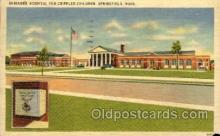 med100514 - Shriners Hospital For Crippled Children Springfield, MA, USA Postcard Post Cards Old Vintage Antique