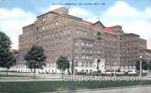 med100524 - De Raul Hospital St Louis, MO, USA Postcard Post Cards Old Vintage Antique