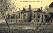 med100525 - East Ward, Miners Hospital Ashland, PA, USA Postcard Post Cards Old Vintage Antique