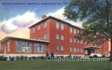 med100541 - Patton Memorial Hospital Hendersonville, NC, USA Postcard Post Cards Old Vintage Antique