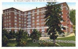 med100547 - St Vincent's Hospital Portland, OR, USA Postcard Post Cards Old Vintage Antique