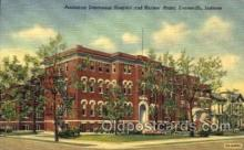 med100554 - Protestant Deaconess Hospital & Nurses Home Evansville, IN, USA Postcard Post Cards Old Vintage Antique