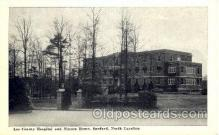 med100575 - Lee County Hospital & Nurses Home Sanford, NC, USA Postcard Post Cards Old Vintage Antique