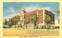 med100581 - Marine Hospital Baltimore, MD, USA Postcard Post Cards Old Vintage Antique
