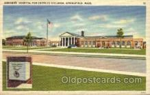 med100582 - Shriners Hospital For Crippled Children Springfield, MA, USA Postcard Post Cards Old Vintage Antique