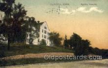 med100586 - Agatha Hospital Clinton, IA, USA Postcard Post Cards Old Vintage Antique