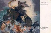mer001044 - Artist Bocklin, Mermaid, Mermaids Postcard Postcards