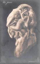 met001191 - Metamorphic Post Card, Old Vintage Antique Postcard