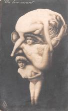 met001205 - Metamorphic Post Card, Old Vintage Antique Postcard