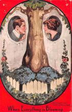 met001273 - Metamorphic Post Card, Old Vintage Antique Postcard