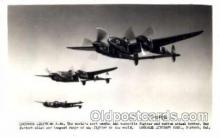 mil000087 - Lockheed Lightning P-38, Military Airplane Postcard Postcards