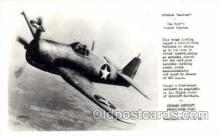 mil000091 - Grumman, Hellcat, Military Airplane Postcard Postcards
