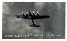 mil000144 - Mighty Eagle, B-17, Military Airplane Postcard Postcards