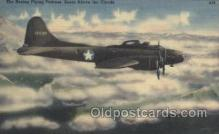mil000162 - The boeing flying Military Plane, Planes Postcard Postcards