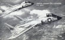 mil000194 - Chance Vought F7U-3 Cutlasses Military Airplane Postcard Post Cards