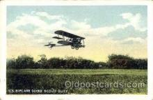 mil000204 - U.S. Biplane Military Airplane Postcard Post Cards