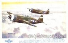 mil000207 - Republic Thunderbolt Military Airplane Postcard Post Cards