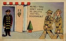 mil001001 - Military Comic Postcard Postcards
