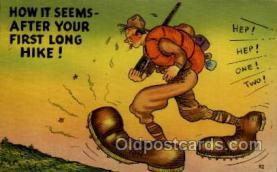 mil001009 - Military Comic Postcard Postcards