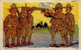 mil001017 - Military Comic Postcard Postcards