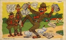 mil001018 - Military Comic Postcard Postcards