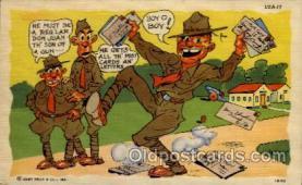 mil001018 - Military Comic Postcard Postcards