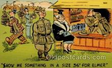 mil001036 - Military Comic Postcard Postcards