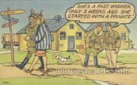 mil001041 - Military Comic Postcard Postcards