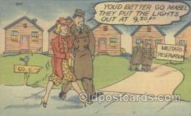 mil001059 - Military Comic Postcard Postcards