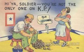 mil001063 - Military Comic Postcard Postcards