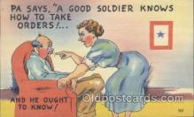 mil001078 - Military Comic Postcard Postcards