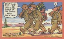 mil001085 - Military Comic Postcard Postcards