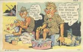 mil001112 - Military Comic Postcard Postcards
