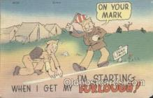 mil001155 - Military Comic Postcard Postcards